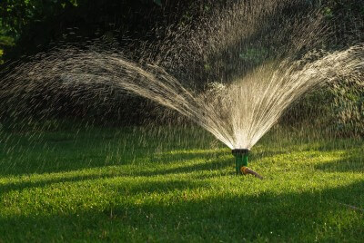 lawn sprinkler flower mound