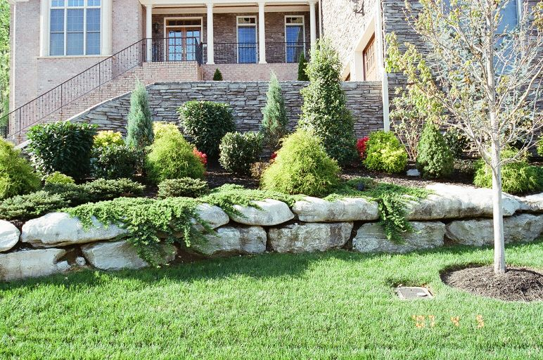 Stone landscaping luxury landscape for Luxury landscape design