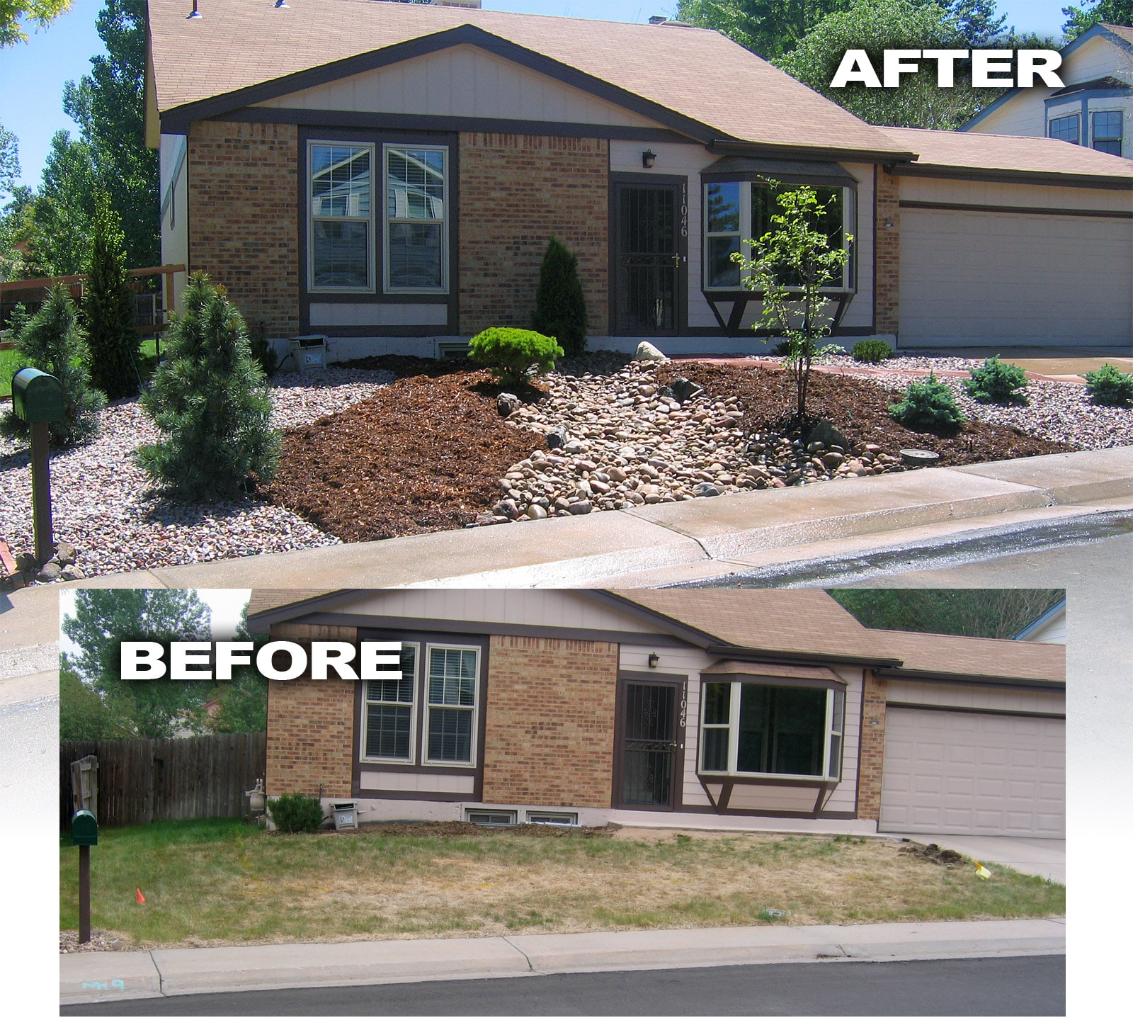 House Before After Ryno Lawn Care Llc