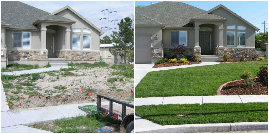 Front yard landscaping ryno lawn care llc for The best front yard landscaping