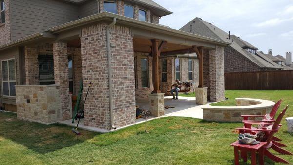 brick stone work outdoor kitchen