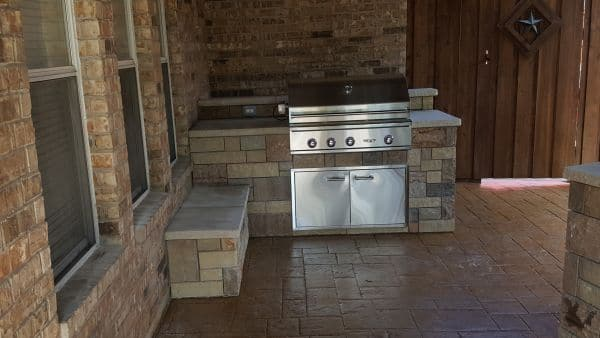 bbq grill stone landscape outdoor kitchen