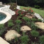 landscaping services flower bed mulch