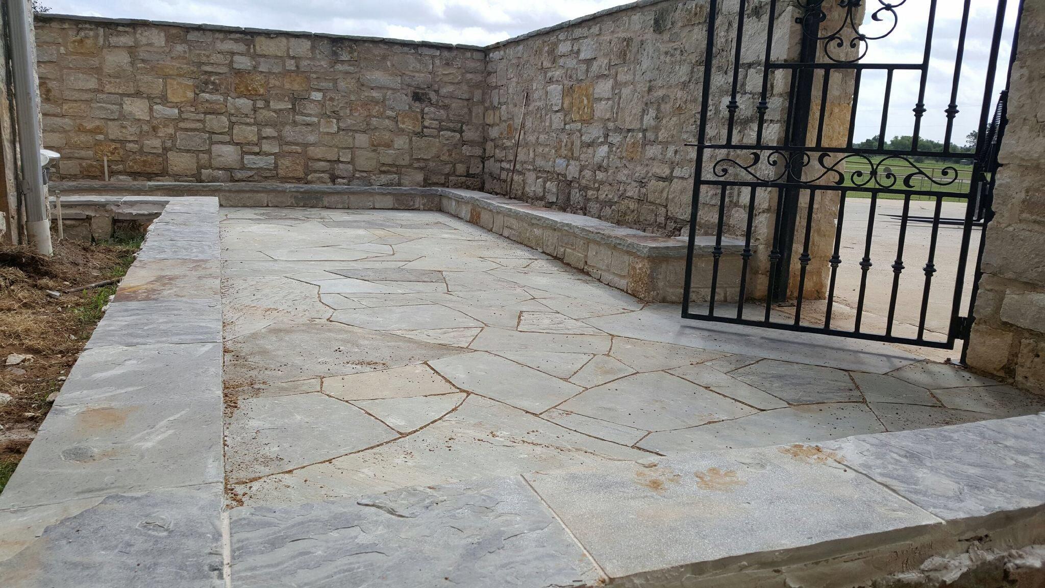 stone patio walkway