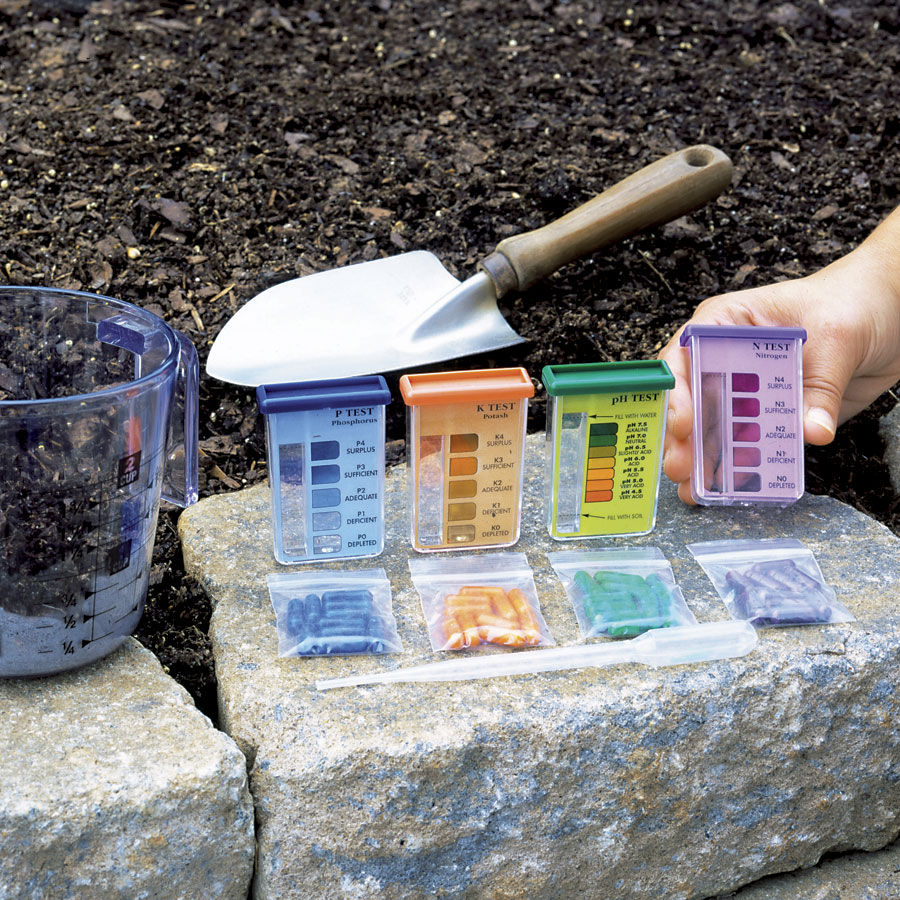 soil test kits for shrub fertilization