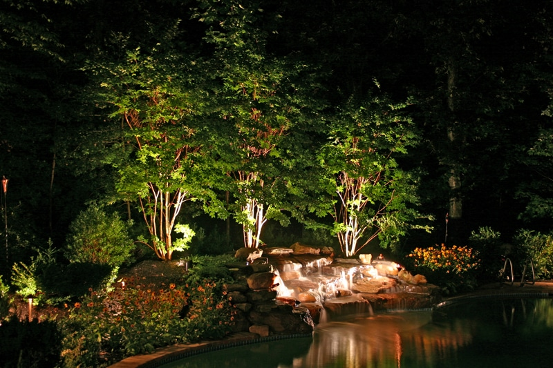 Landscape lighting placement