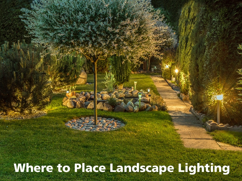 Where to place landscape lighting landscape lighting tips aloadofball