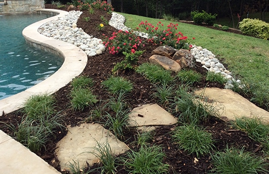 landscaping flower mound