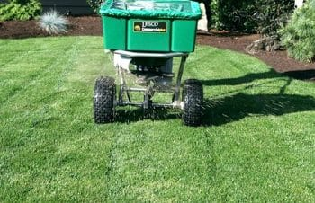 fertilization spreader weed control