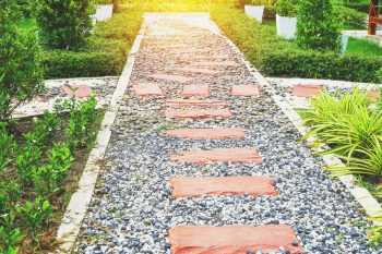 brick and stone walkway