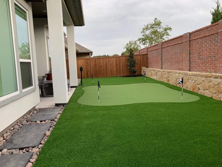 synthetic putting green back yard